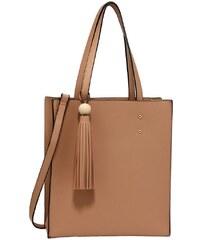 2e74c5a589 Anna Grace 1585 AG Γυναικεία tote τσάντα με φούντα AG00594 - Μπέζ