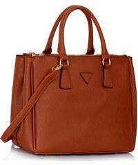 d0e23c041f LS Bags 1566 LS Γυναικεία τσάντα ώμου χειρός LS00260 - Καφέ