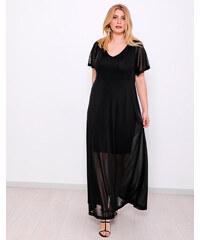 82fcc6246229 style Φόρεμα μακρυ μεταλιζέ μαυρο με πλάτη έξω - Glami.gr