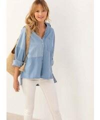 03dace87c550 The Fashion Project Denim πουκάμισο με ρίγες - Γαλάζιο - 07542018001