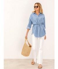 0581eee49e66 The Fashion Project Denim πουκαμίσα με ζωνάκι στη μέση - Γαλάζιο -  07541018001