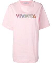 92aefc5f396a Vivetta rhinestone logo oversized T-shirt - Pink