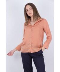 a9bce53e365d ONAGE Γυναικείο πουκάμισο σατέν με 3 4 μανίκια ΚΑΦΕ