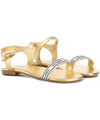 07c83071607 Dolce & Gabbana Kids logo trim sandals - Gold