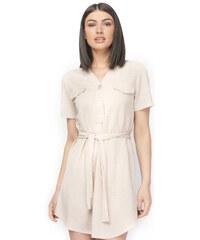 149463178a55 OEM Φόρεμα κοντό με δαντέλα μπεζ Μπεζ - Glami.gr