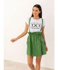 3e15f3871a6 The Fashion Project Paper bag φούστα με τιράντες - Πράσινο - 07549016001