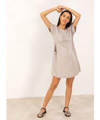 fb87255059f0 The Fashion Project Oversize φόρεμα με τσέπες - Μπεζ - 07459003001