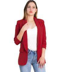 4b6f324bd540 Huxley   Grace Γυναικείο κόκκινο σακάκι με βάτες 3 4 μανίκι 28033G