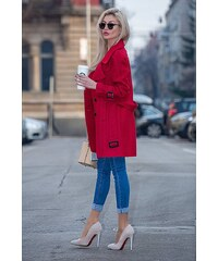 cfb3bcb8cf Ημίπαλτο γυναικείο με κουμπιά Garcia Jeans (GJ800908-2685-GOJI-BERRY ...