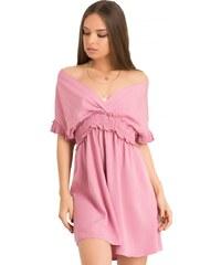 0e030c4eed31 DeCoro F92312 Φόρεμα με Ανοιγμα στην Πλάτη - ΡΟΖ - 10