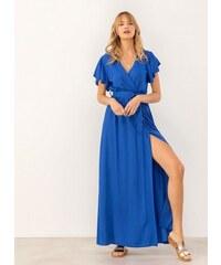 25250c6e912 The Fashion Project Maxi κρουαζέ φόρεμα με άνοιγμα - Μπλε - 07606037001