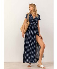 ab79d39735ba The Fashion Project Πουά maxi κρουαζέ φόρεμα - Μπλε σκούρο - 07602023001