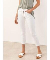 8cc43d70468 The Fashion Project Denim παντελόνι με εξωτερικά κουμπιά - Λευκό -  07694001003