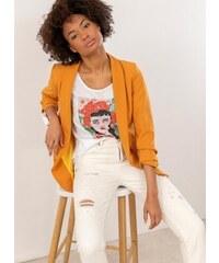 49ff8af08b2e The Fashion Project Σακάκι σε ίσια γραμμή - Μουσταρδί - 03657056004