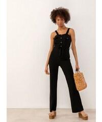 fe9d124c674 The Fashion Project Ολόσωμη oversize ζιπ-κιλοτ σαλοπέτα - Μαύρο ...
