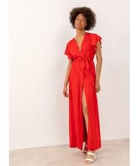 ade549b67109 The Fashion Project Maxi κρουαζέ φόρεμα με άνοιγμα - Κόκκινο - 07606014001