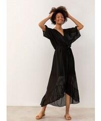 1d35ba01e023 The Fashion Project Κρουαζέ ασύμμετρο φόρεμα με διαφάνεια - Μαύρο -  07603002001
