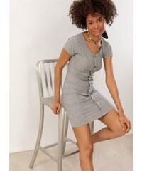 ada2f5340d90 The Fashion Project Ριπ φόρεμα με ξύλινα κουμπάκια - Γκρι - 07463038001