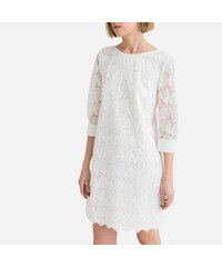 c9324811c9da LA REDOUTE COLLECTIONS Κοντό φόρεμα από γκιπούρ δαντέλα με μανίκια 3 4
