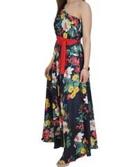 08e202f822a Μακρύ Φόρεμα Με Έναν Ώμο Forel 565088 Μαύρο Φλοράλ forel 565088 mayro