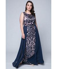 eb219725cdc7 Happysizes Maxi κεντητό φόρεμα με μουσελίνα σε μπλε πούδρα χρώμα