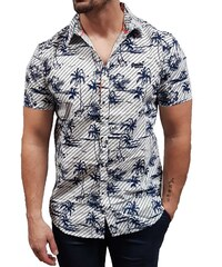8465e1d39055 Superdry - M40103KT Y2N - S S International Vacation Shirt - Optic White  Hibiscus -