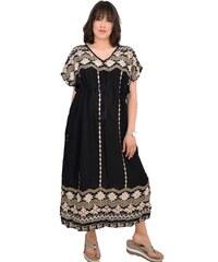 9886b8d3ee2e Φόρεμα παραλίας maxi Ble 5-41-151-0166 - μαύρο