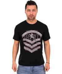 539744d82989 Λεπτομέρειες. outletshop Μαύρο ανδρικό T-shirt με γκρι τύπωμα