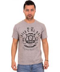 c1da64a0d28d Λεπτομέρειες. outletshop Γκρι ανδρικό T-shirt με μαύρο τύπωμα