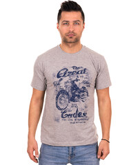 5717ec03cb52 Λεπτομέρειες. outletshop Γκρι ανδρικό T-shirt με μπλε τύπωμα