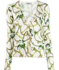 d40d1c3e0121 Liu Jo chain trimmed cardigan - White