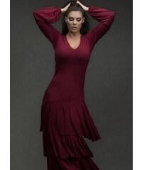 58a143ea07ae parizianista Maxi φόρεμα με βολάν by Maria Korinthiou Collection - Μπορντό  - 036001