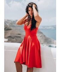 944840582763 parizianista midi κλος φόρεμα με τιράντα by Maria Korinthiou Collection -  Κόκκινο - 010002