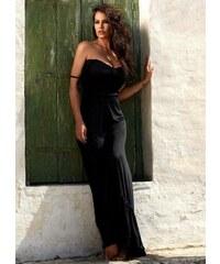 53b06a5660f The Fashion Project Maxi κρουαζέ φόρεμα με άνοιγμα - Μαύρο ...