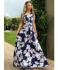 3f1a3d5af5f9 parizianista πολυμορφικό maxi φόρεμα - Μπλε floral - 042001