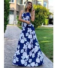 d6854a4add85 parizianista maxi φόρεμα αμάνικο - Μπλε - 025001