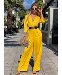 a04bcbf25f6b Λεπτομέρειες · parizianista ολόσωμη φόρμα με V - Κίτρινο - 008002