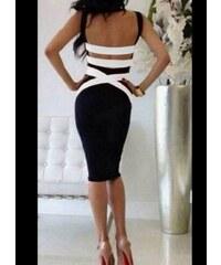 e8746a479f1d parizianista Φόρεμα midi χιαστί στην πλάτη - Μαύρο - 002002