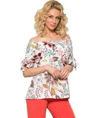 69d9d64895aa RAXSTA Γυναικεία φλοράλ κοντομάνικη μπλούζα