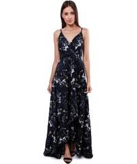 594f9be76e46 Luigi Φόρεμα Κρουαζέ Floral - Μπλε Σκούρο - 006