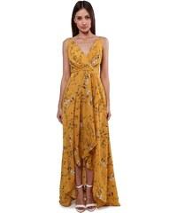 d7f6c59494fb Luigi Φόρεμα Κρουαζέ Floral - Μουσταρδί - 008