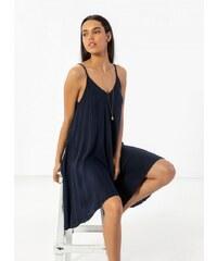 6757214492f9 The Fashion Project Basic φόρεμα με λεπτό ραντάκι - Μπλε σκούρο -  07458023001