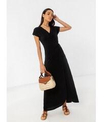 4c2f3b0ca9aa Noobass Basic maxi δετό κρουαζέ φόρεμα - Μαύρο - 07826002001