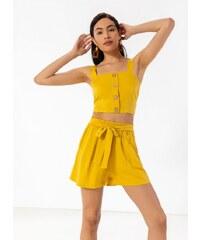 09729a6998db The Fashion Project Σετ βερμούδα με crop top - Μουσταρδί - 07776056001