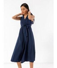 73fea60d4608 The Fashion Project Αμάνικο κρουαζέ φόρεμα με πέτο - Μπλε σκούρο -  07798023001