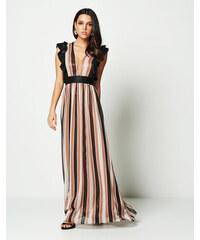 930c8322d217 Lynne Ριγέ φόρεμα με βολάν