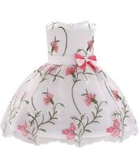 26c16a1a7d8 Φορεματάκι Κόκκινο - Ασπρό Βρεφικό με λουλουδάκια - Meng Baby