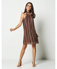 e03adb17097 Lynne Ριγέ φόρεμα με halter λαιμόκοψη