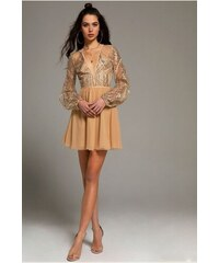 dd4cac432b2d Abebablom PEACE AND CHAOS SEQUINS   TULLE DRESS - Nude - 003