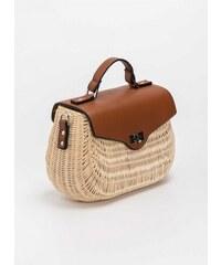 491f2d2de0 The Fashion Project Bamboo χειροποίητη τσάντα με δερμάτινο καπάκι - Μπεζ -  07886003003